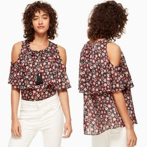 Kate Spade Mini Casa Flora Cold Shoulder Top